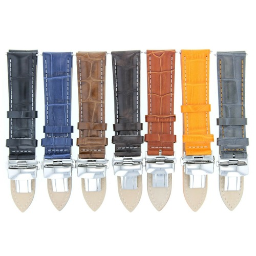 18,19,20,20,21,22,24MM LEATHER BAND STRAP CLASP FOR TAG HEUER CARERRA/MONACO 3B