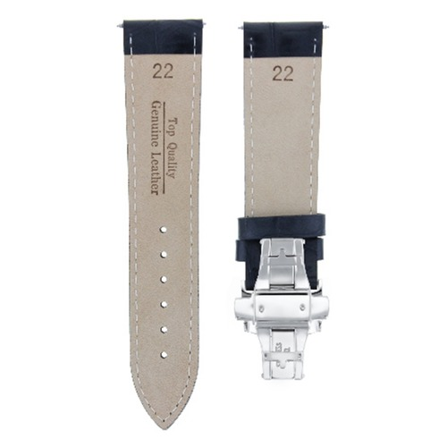 22MM LEATHER WATCH BAND STRAP CLASP FOR NIXON PASSPORT A321001 WATCH BLACK WS