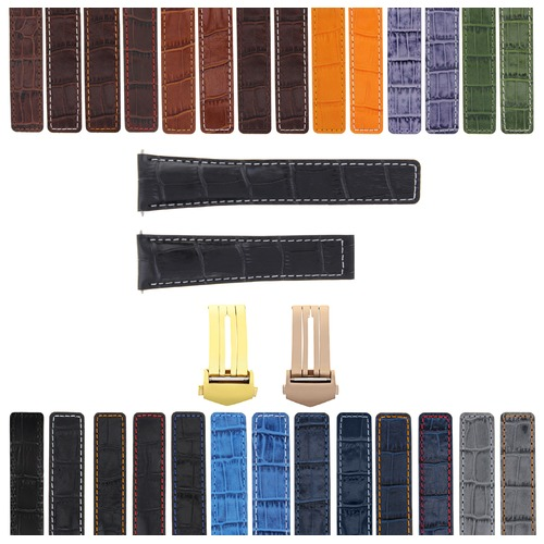 20MM LEATHER WATCH BAND STRAP DEPLOYMENT BUCKLE CLASP FOR TAG HEUER CARERRA