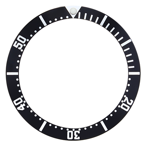 BEZEL INSERT FOR 44MM CASIO 200M MDV106 ,106A WATCH DIVER ANALOG SPORTS BLACK