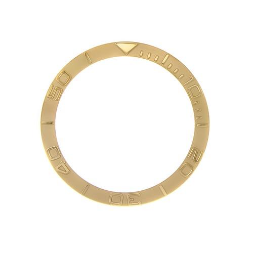BEZEL INSERT FOR ROLEX YACHTMASTER 16800,16808,16610 GOLD