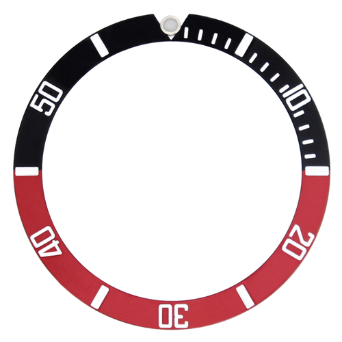 BEZEL INSERT FOR 40MM INVICTA SS 9937OB WATCH RED/BLACK SILVER - TOP QUALITY