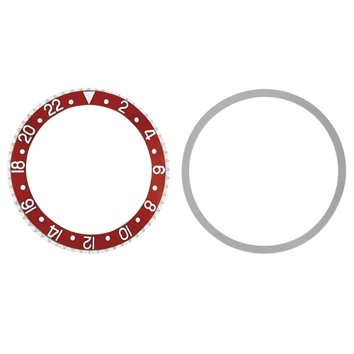 BEZEL & INSERT FOR VINTAGE ROLEX GMT MASTER II 1670 1675 16750 16753 16758 RED