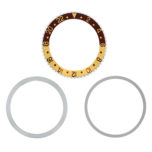 ROTATING + BEZEL + INSERT FOR ROLEX GMT 1670 1675 1675 16753 16758 BROWN/GOLD