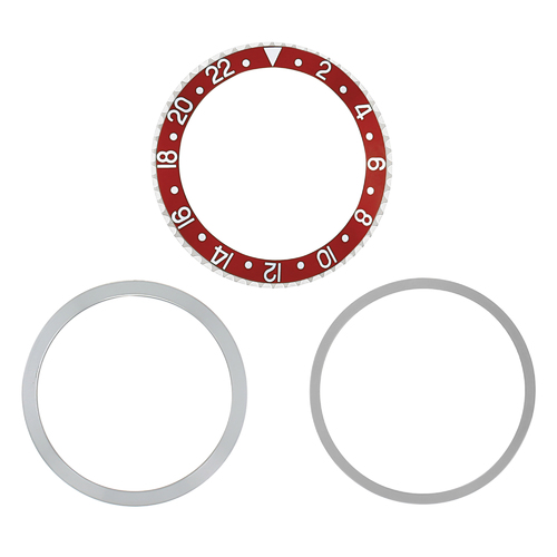ROTATING + BEZEL + INSERT FOR ROLEX GMT WATCH 1670 1675 16750 16753 16758 RED