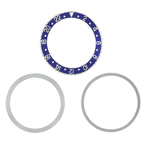 ROTATING + BEZEL + INSERT FOR ROLEX GMT 1670 1675 16750 16753 16758 WATCH BLUE