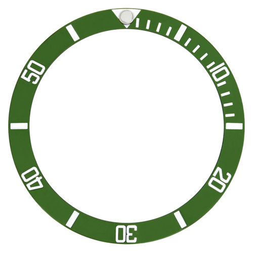 BEZEL INSERT FOR TUDOR SUBMARINER PRINCE DATE WATCH 79090 OYSTER DATE GREEN