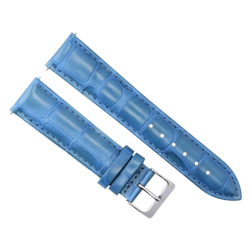 24MM ITALIAN LEATHER WATCH STRAP BAND FOR KENNETH COLE LIGHT BLUE