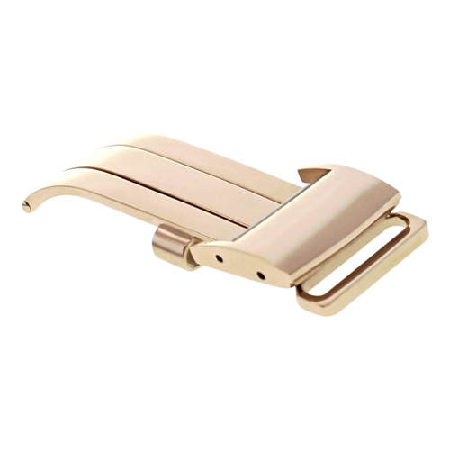 18MM DEPLOYMENT BAND  BUCKLE CLASP FOR BREITLING PILOT LEATHER BAND STRAP ROSE