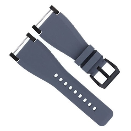 24MM SUUNTO CORE SILCONE RUBBER WATCH BAND STRAP + BLACK ADAPTER GREY