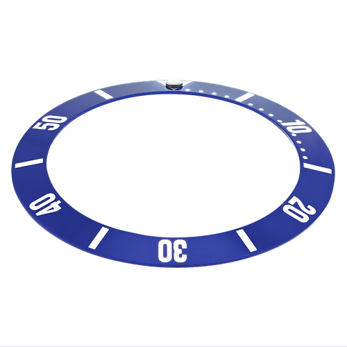 REPLACEMENT BEZEL INSERT BLUE SILVER FOR LADIES WATCH 25.40MM X 20MM