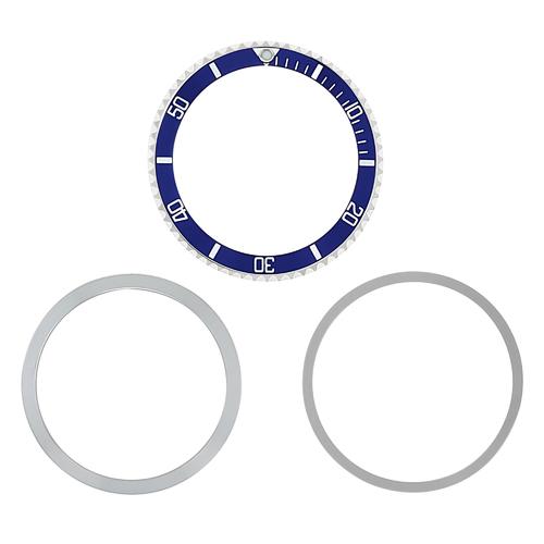 BEZEL, RETAINING+ INSERT + TENSION RING FOR TUDOR SUBMARINER 9401 9411 7016 BLUE
