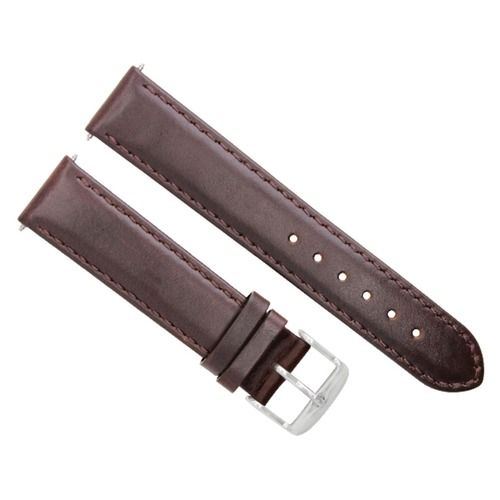 24MM SMOOTH LEATHER WATCH BAND STRAP FOR KENNETH COLE WATCH DARK BROWN