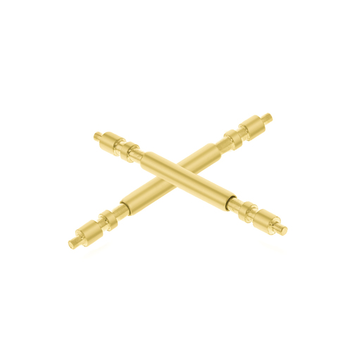 2 GOLD SPRING BAR PIN FOR 36MM ROLEX PRESIDENT DAYDATE 118205 118238 118388 GOLD