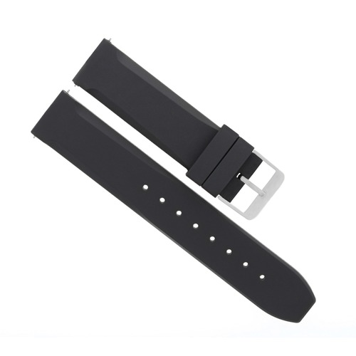 20MM RUBBER DIVER WATCH BAND STRAP FOR CROTON WATCH BLACK
