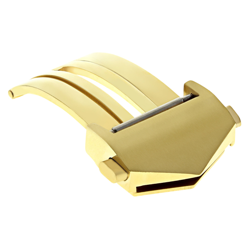 18MM DEPLOYMENT CLASP FOR TAG HEUER CARRERA FC5014,FC5030 LEATHER BAND GOLD 9