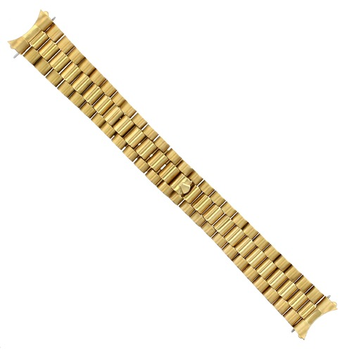 PRESIDENT WATCH BAND FOR 34MM ROLEX DATE WATCH 19MM GOLD GP REMOVEABLE END PIECE