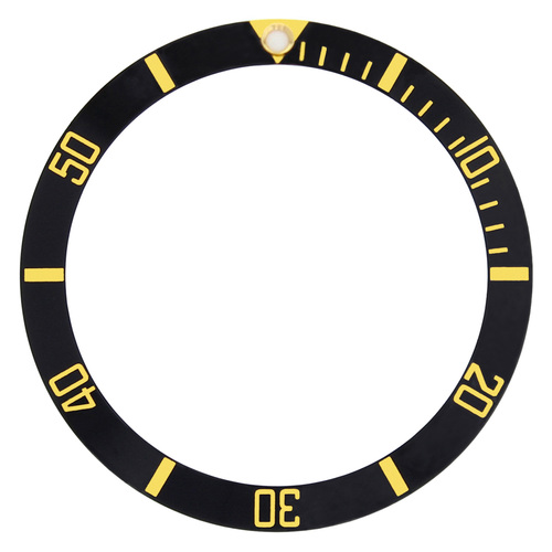 BEZEL INSERT FOR  TUDOR SUBMARINER WATCH 94010,76100  9411/0 BLACK GOLD FONT