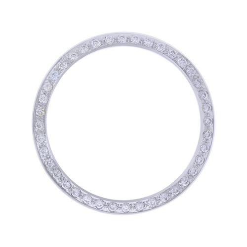 CREATED DIAMOND BEZEL FOR 34MM ROLEX DATE 15000 15200 OYSTER  WHITE
