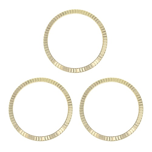 3 FLUTED  BEZEL FOR ROLEX PRESIDENT DAY 1802 1805 18038 18039 18238 18239 GOLD