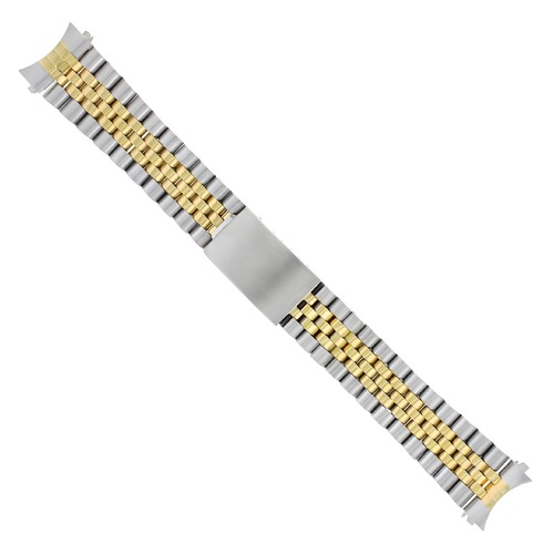 19MM JUBILEE WATCH REPLACEMENT BAND BRACELET FOR ROLEX TUDOR GOLD/SS TWO TONE