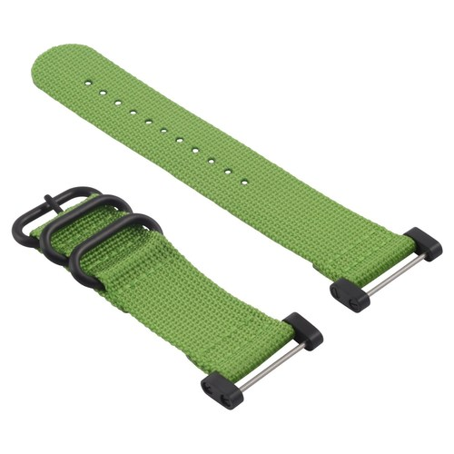 NYLON STRAP FOR SUUNTO CORE DIVER WATCH BAND LUGS ADAPTER SET 3 RING PVD GREEN