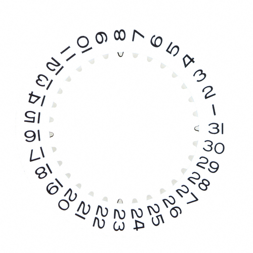 DATE DISC WHEEL FOR ROLEX WATCH FIT GENUINE 3130/3135 MOVMENT WHITE