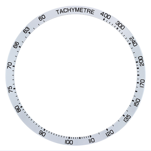 REPLACEMENT BEZEL INSERT SILVER FOR WATCH 42.80MM X 37.30MM