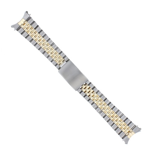 JUBILEE WATCHBAND FOR MENS 34MM ROLEX DATE 1601 1500 14000 REAL GOLD 18K/SS 19MM