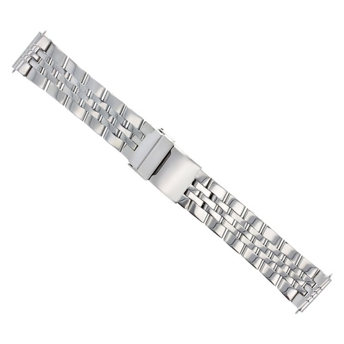 24MM HEAVY WATCH BAND FOR BREITLING BENTLEY 6.75 SPEED 5 SOLID LINK MATTE SE