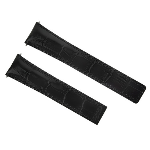 22MM LEATHER STRAP BAND FOR 42MM BAUME MERCIER CLASSIMA 8692 8733 XL WATCH BLACK