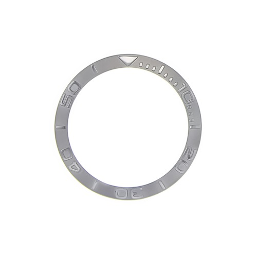 BEZEL INSERT FOR LADY ROLEX YACHTMASTER  69623, 69628, 169623 WATCH SILVER COLOR