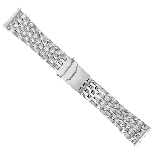 22MM WATCH BAND BRACELET STAINLESS S FOR BREITLING EMERGENCY PILOT 7 LINK POLISH