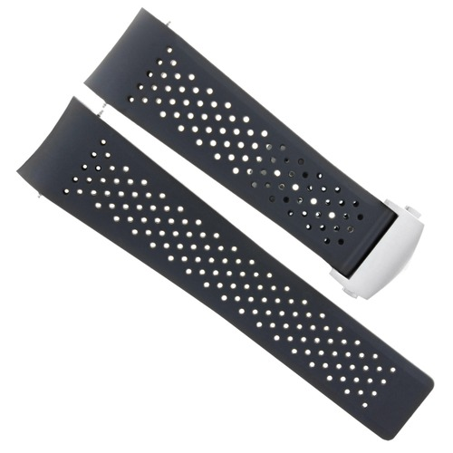 22MM RUBBER BAND STRAP REPLACEMENT FOR TAG HEUER CARRERA CALIBRE 36 WATCH + CLASP