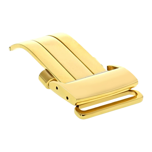 18MM DEPLOYMENT BAND BUCKLE CLASP FOR BREITLING PILOT LEATHER STRAP 18/20MM GOLD