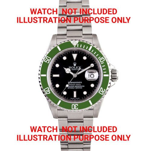 BEZEL COMPLETE FOR SUBMARINER +TENSION+ INSERT 16610 16800 16613 16618 GREEN