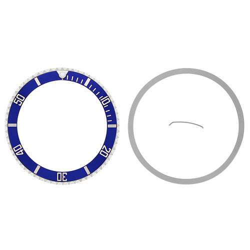 INSTALLED BEZEL + INSERT FOR ROLEX SUBMARINER SAPPAIRE 16800 16803 16808 BLUE