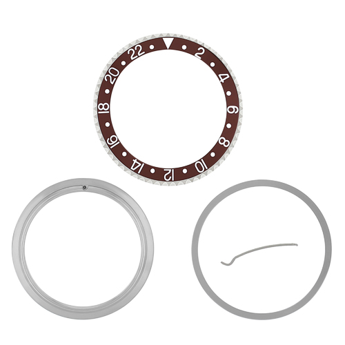 ROTATING+ BEZEL & INSERT COMPLETE FOR ROLEX GMT 16700 16708 16713 16718 BROWN