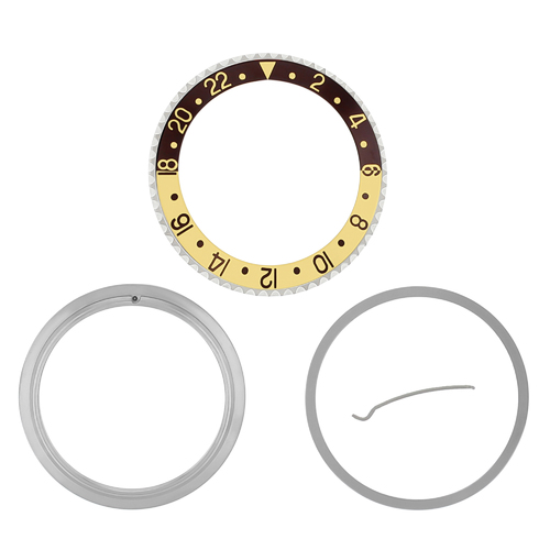 ROTATING + BEZEL + INSERT FOR ROLEX GMT BROWN/GOLD 16700 16710 16713 16718 16760