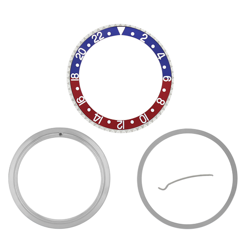 RETAINING + BEZEL + INSERT FOR ROLEX GMT BLUE/RED 16700 16710 16713 16718 16760