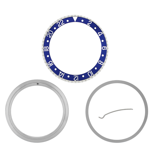 RETAINING RING + BEZEL & INSERT FOR ROLEX GMT 16700 16708 16713 16718 16760 BLUE