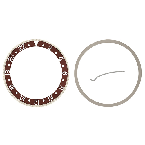 BEZEL+ INSERT FOR ROLEX NEW GMT 16700 16710 16713 16718 16760 SAPPHIRE BROWN
