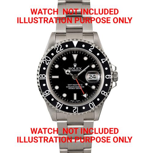 BEZEL & INSERT FOR ROLEX GMT 16700 16710 16713 16718 16760 SAPPHIRE MODEL BLACK