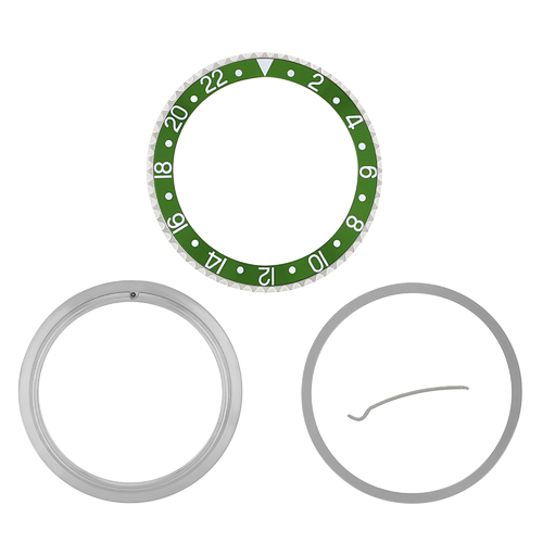 RETAINING+BEZEL+INSERT COMPLET FOR ROLEX GMT GREEN 16700 16710 16713 16718 16760