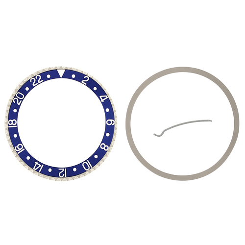 BEZEL & INSERT FOR ROLEX GMT SAPAHIRE MODEL 16700 16710 16713 16718 16760 BLUE
