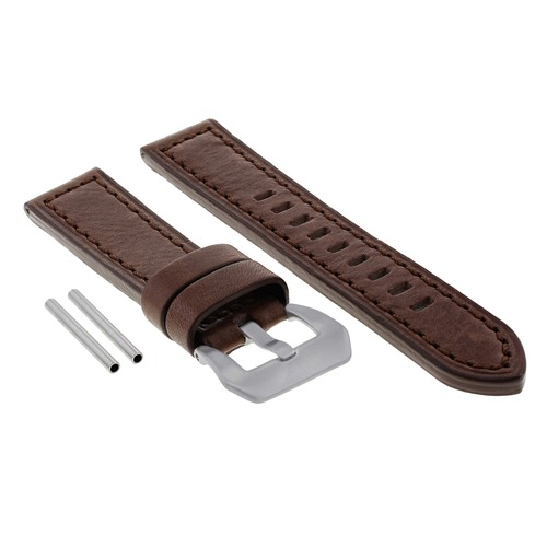 22MM COW LEATHER WATCH BAND STRAP FOR ANONIMO SAILOR WATCH DARK BROWN