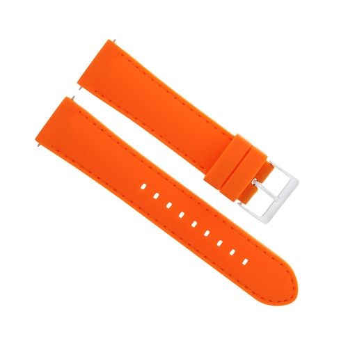 22MM SOFT RUBBER DIVER WATCH BAND STRAP FOR FERRARI WATCH ORANGE ORANGE STITCH