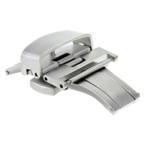 18MM DEPLOYMENT BAND BUCKLE CLASP FOR TAG HEUER LEATHER STRAP MATTE BRUSH #2