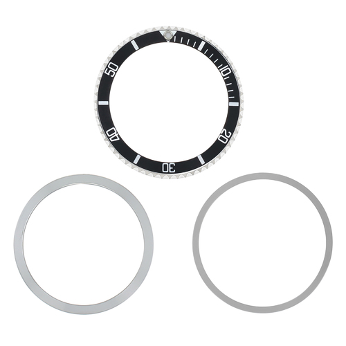 BEZEL, INSERT, RETAINING RING FOR TUDOR SUBMARINER 7016 9401 94010 76100 BLACK