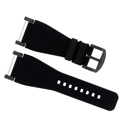 24MM SUUNTO CORE SILCONE RUBBER WATCH BAND STRAP + BLACK ADAPTER BLACK
